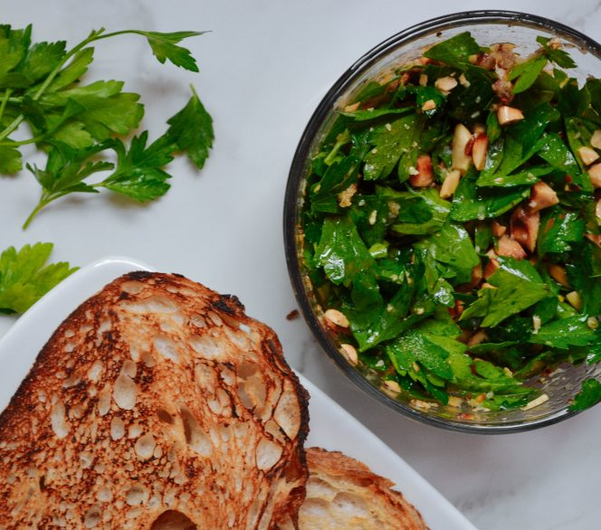 Herb & Almond Bruschetta