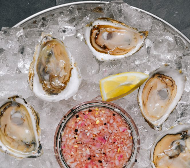 Shucking Oysters and Making Shallot Mignonette
